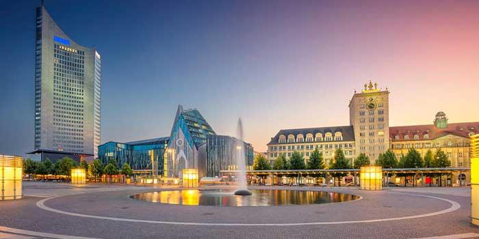 Edificios modernos en Leipzig