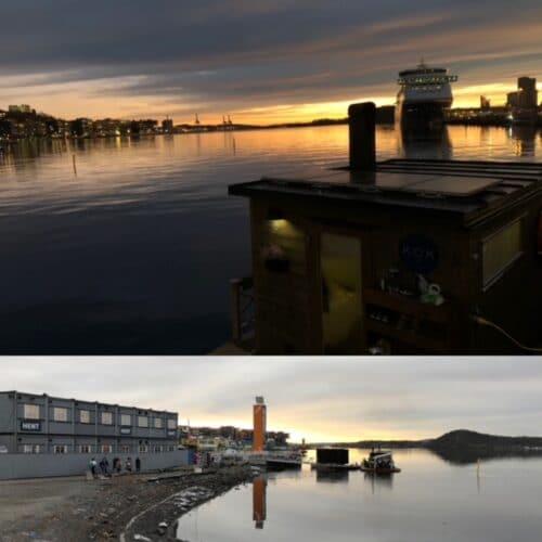 Sauna flotante en Oslo