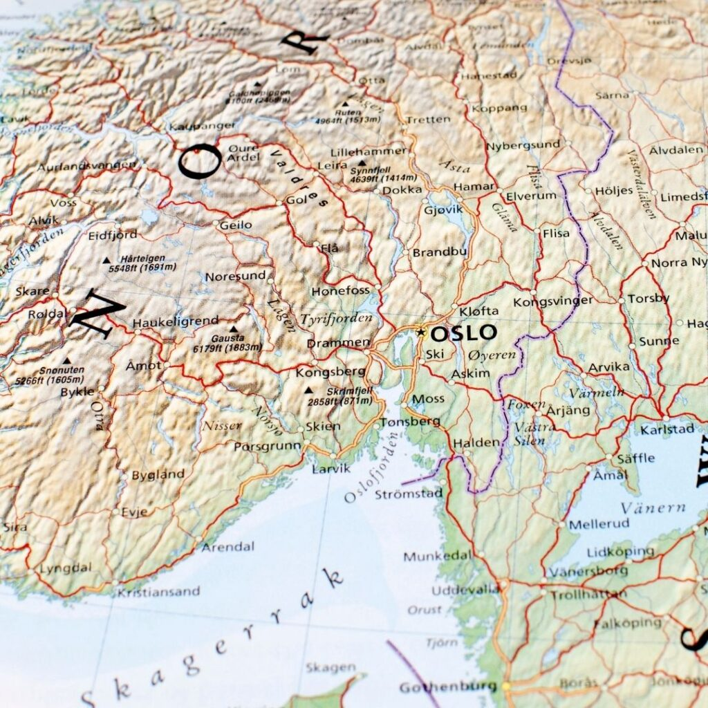 Oslo mapa