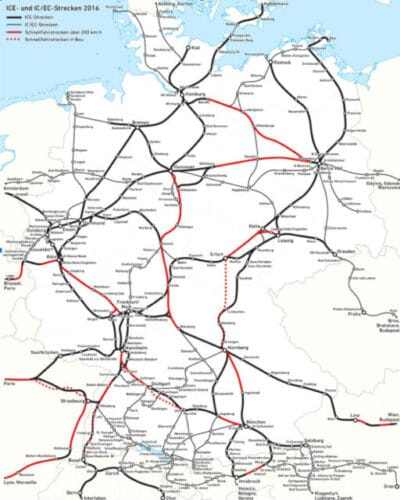 Red de trenes en Alemania